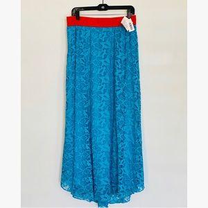 LuLaRoe Lucy Lace Skirt Blue size Large